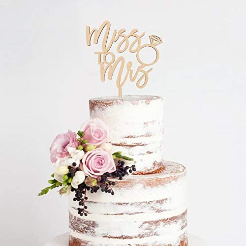 She Said Yes Cake Topper Bride to Be Cake Topper Bridal Shower Cake Topper Miss to Mrs Cake Topper