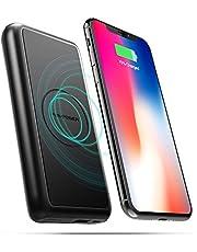 Wireless QI Powerbank RAVPower 10000mAh Schnell Kabelloses Aufladen Ladegerät für iPhone XS, XS Max, XR, X, iPhone 8/8 Plus, Induktive Qi-Powerbank für Galaxy S9, S8, Note 8 & alle Qi-fähigen Geräte