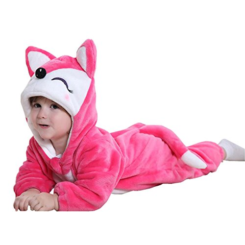 Unisex-baby Romper Animal Onesie Costume Cartoon Outfit (0 To 3 Month Old Halloween Costumes)