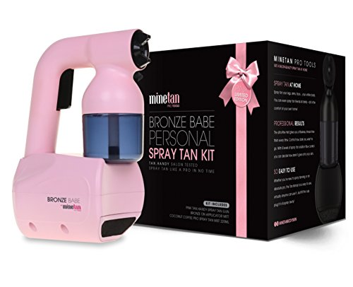 MineTan Bronze Babe Personal Spray Tan Kit, Pink, 3.3 Pound