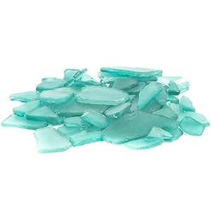 Nautical Crush Trading Aqua Blue Sea Glass | Bulk Sea Glass for Decoration | Aqua Blue Colored Sea Glass Pieces for Craft