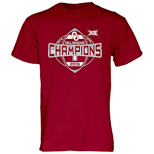 Blue 84 Oklahoma Sooners 2015 Big 12 Conference Champions Locker Room T-Shirt (L)