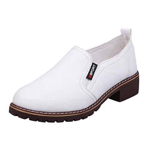 Plates Blanc Cuir Flat En Soldes Overdose Chaussures Automne gq1UaTw
