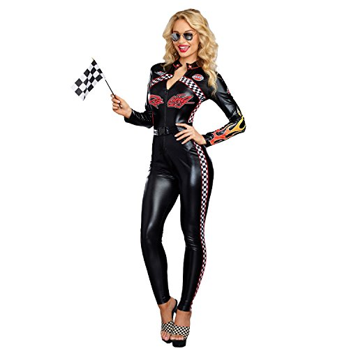 Dreamgirl Women's Start Your Engines, Multi, M