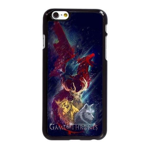 J5V78 Game of Thrones Illustration X2F8LS coque iPhone 6 Plus de 5,5 pouces cas de couverture de téléphone portable coque noire XC3TAG8RN