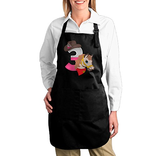Cowgirl Costume Ideas With Jeans (Dogquxio Cowgirl Number Kitchen Helper Professional Bib Apron With 2 Pockets For Women Men Adults Black)