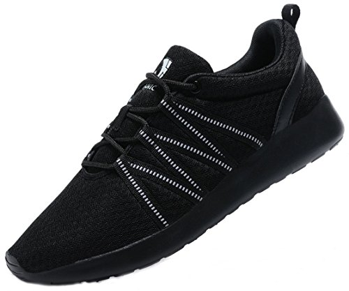 Men's Running Shoes Workout Fitness Sneakers Athletic Lightweight Casual Sports Shoes (Men,43EU/9.5US, All Black)