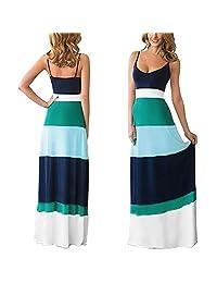 Tenworld Women Summer Cotton Dress Boho Long Maxi Evening Party Dress