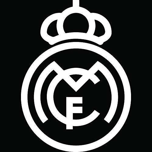 ANGDEST FC Real Madrid (White) (Set of 2) Premium Waterproof Vinyl Decal Stickers for Laptop Phone Accessory Helmet Car Window Bumper Mug Tuber Cup Door Wall Decoration