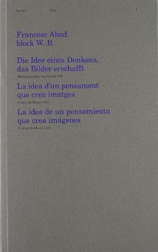 Descargar Libro Francesc Abad Block W.b. Die Idee Eines Denkens Claudia Kalász