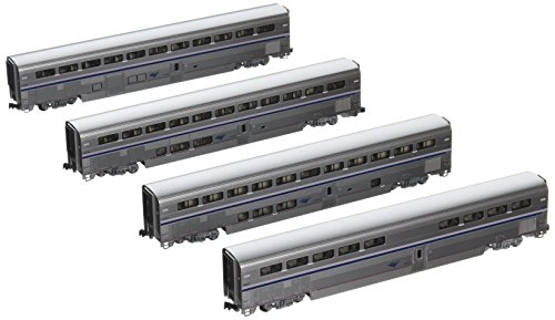 Kato USA Model Train Products Amtrak Superliner Phase IVb Car Set A, 4-Piece Amtrak Train Cars
