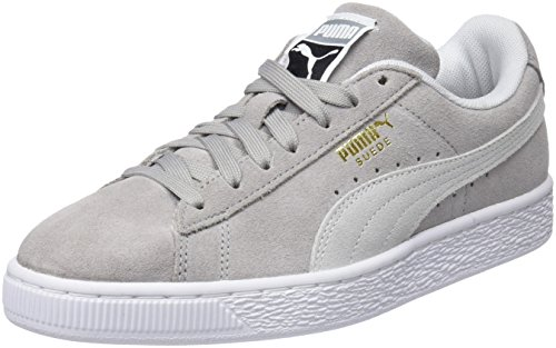 puma Mixte Classic Puma White Sneakers Suede Adulte Basses Gris Ash x6q8PC