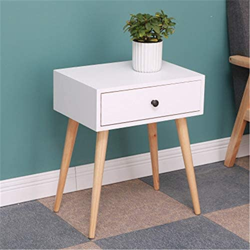 ベッドサイドテーブル ナイトテーブルベッドルームサイドテーブル 高耐久性と耐水性 (Color : Black, Size : One Size)