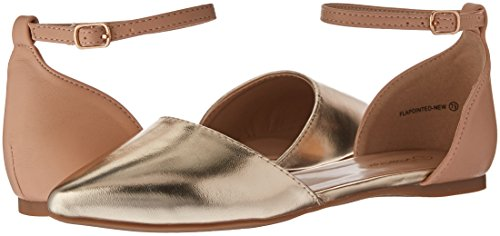 Dream New Nude Women's Gold Pump Flapointed qEcOBWqr