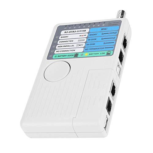 Netwerkkabeltester LAN-kabeltest 4-in-1 Remote LAN-netwerkmeetapparaat USB BNC voor UTP STP, RJ11 RJ45-kabeltester