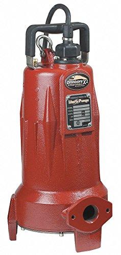 2 HP Grinder Pump, CSCR Motor, 185 ft. Max Head, Silicon Carbide, Viton Shaft Seal
