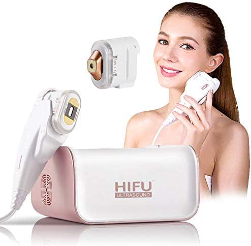HIFU Face Lifting Anti-Wrinkle Machine with Eye Cartridge Multi-Function Mini Skin Tightening Beauty Device LED Skin Regeneration Anti Aging Instrument for Salon Home Use