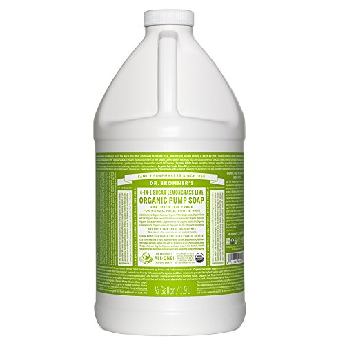 Dr. Bronner's Organic Sugar Soap - 64 oz. Refill (Lemongrass - Pure Soap Natural & Pump