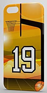 Basketball Sports Fan Player Number 19 Clear Plastic Decorative iPhone 4/4s Case