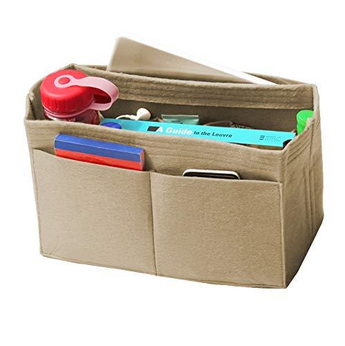 JennyKrafts Purse Insert (3mm Felt, Open Pockets, Water Bottle Holder), Tote Bag Organizer Pockets