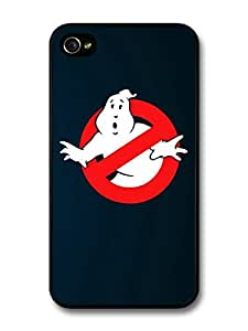 The Ghostbusters Logo Illustration Blue Background case for iPhone 4 4S