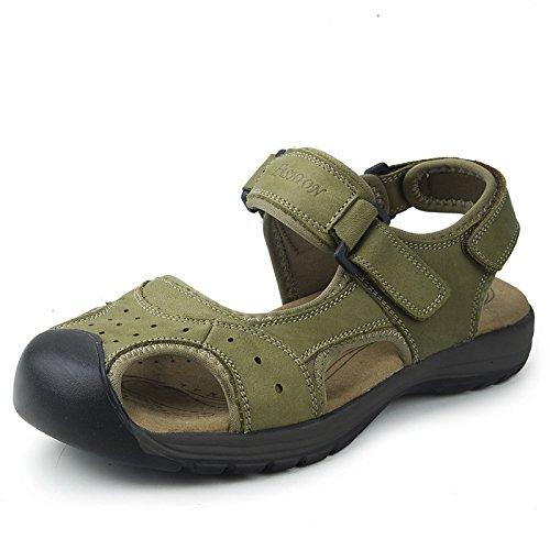 Männer Sandalen, Beach - Schuhe, Baotou, Sommer,Hellgrün.,Eu41Cn42