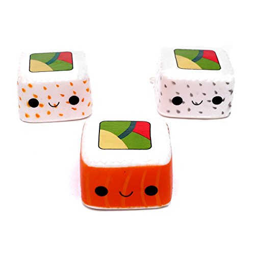 Kawaii Squishies Toy,Slow Rising Cute Sushi Food Soft Squishies 3 Pack