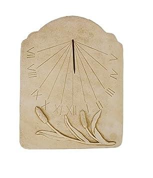 CATART Reloj de Sol en Piedra para Pared Exterior Tempus Fugit de 59x38 cm | Reloj de Sol Jardín Vertical de Piedra Artificial, Color Marrón: Amazon.es: ...