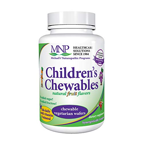 (Michael's Naturopathic Programs Childrens Chewables - Fruit Punch Flavor - 120 Vegetarian Wafers - Childrens Multivitamin & Mineral Supplement - Kosher - 60 to 120 Servings)