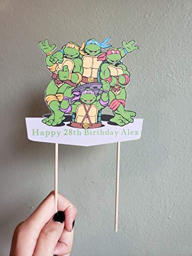 Teenage mutant ninja turtles cake topper. teenage mutant ninja turtles party decor ()