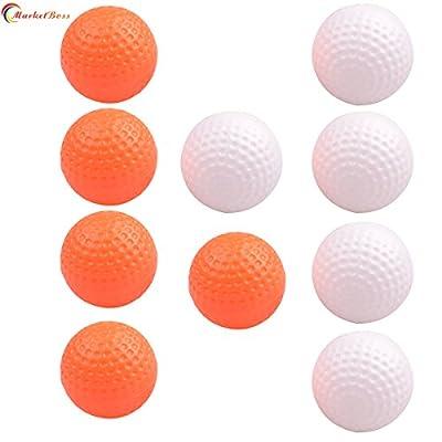 MarketBoss 10pcs Sports Practice Hollow Golf Balls Durable Plastic Training Playing Golf Balls