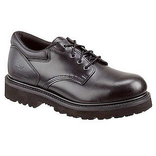 (Thorogood Men's Uniform Classic Leather Oxford Steel Safety Toe Black 10.5 D US)