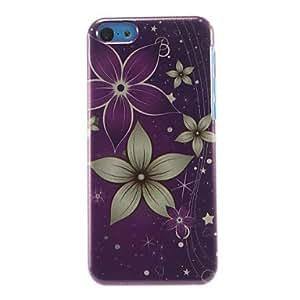 ZXM-Modelo de flores Hermosa duro caso para iPhone 5C