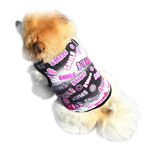 Howstar Pet Clothes, Puppy Star Print Shirts Doggie Apparels Soft Warm Costume (❤️Black, M) -