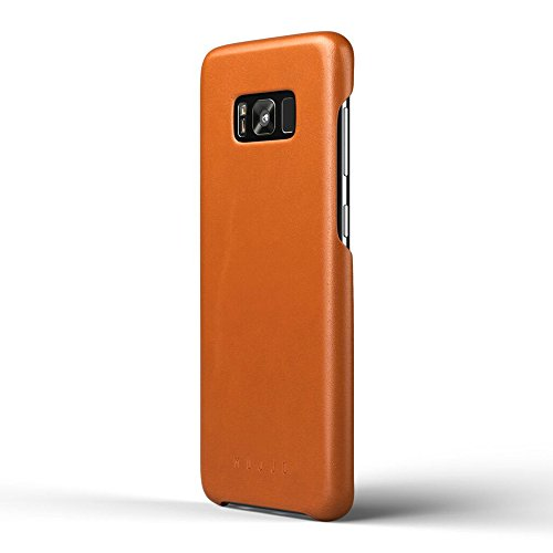 Mujjo MUJJO-CS-064-ST Full Leather Case compatible with Samsung Galaxy S8 Plus, 1MM Protective Screen Bezel, Moulded Edge Technology, Japanese Suede Lining (Saddle Tan)