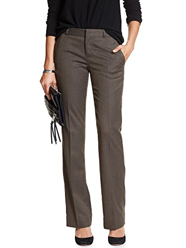 Banana Republic Women's Martin-Fit Herringbone Tailored Trouser Pewter Sz: - Republic Trousers Banana