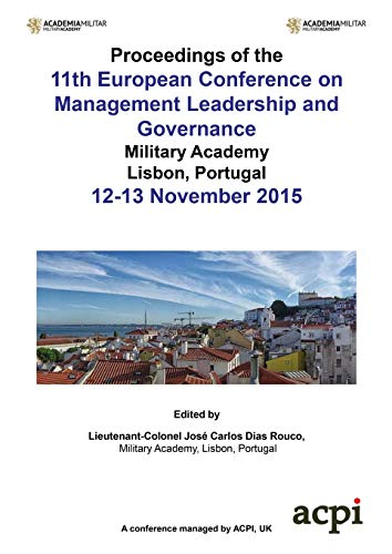 ECMLG 2015 - Proceedings of the 11th European Conference on  Management Leadership and Governance