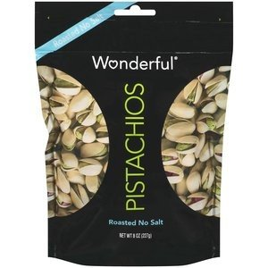 Wonderful, Roasted No Salt Pistachios, 6.5oz Bag (Pack of 3)
