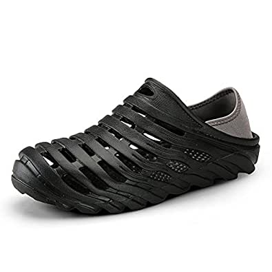Xujw-shoes, 2018 Men's Clogs Sandals are Casual Skid-Proof and Breathable Drag Cool and Pull Twice Elastic Heel Strap for Water Shoes (Color : Black, Size : 6.5 UK)