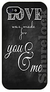 iPhone 5C Bible Verse - Love was made for you and me - black plastic case / Verses, Inspirational and Motivational