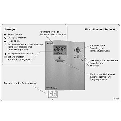 Siemens Termostato RDD 10.1 años regulador 2 x 1.5 V AAA - Contacto: Amazon.es: Bricolaje y herramientas
