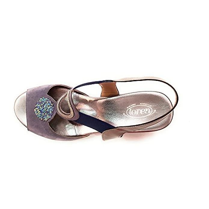 Loren Sandalo Elegante Linea Comoda Pelle Art 8027
