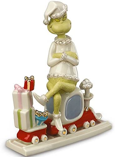 Lenox All Aboard with Mr. Grinch Figurine Dr. Seuss