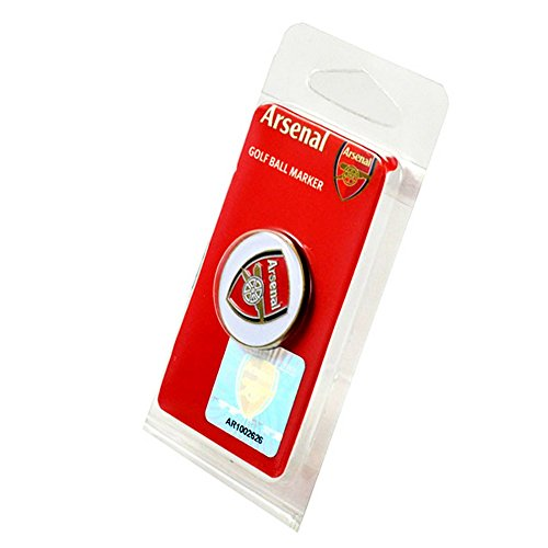 Arsenal FC Official Football Crest Golf Ball Marker (One Size) (White/Red/Blue)