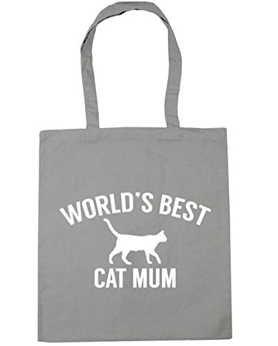 cat Grey Gym 42cm HippoWarehouse Beach Bag Shopping Light litres x38cm World's 10 Tote best mum UwqFxpf