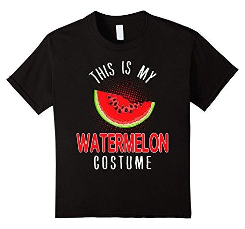 Watermelon Girl Costume (Kids Funny This Is My Watermelon Costume Halloween T Shirt 12 Black)