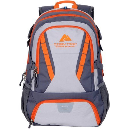 OZARK TRAIL 35L Choteau Daypack Backpack Orange Grey Orange Gray