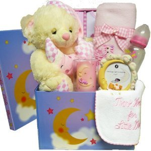 Art of Appreciation Gift Baskets Twinkle Twinkle Little Star New Baby Care Package Gift Box, Girls