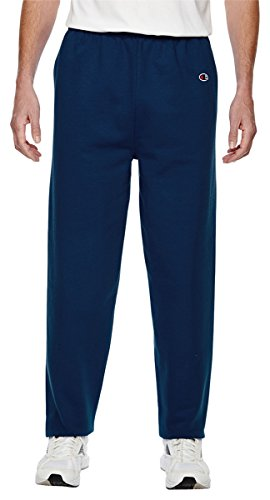 Champion Men's Cotton Max Fleece Pant, Sport Dark Navy (Large)