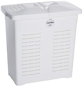 Wham 75 L Rectangular White Plastic Laundry Linen Basket